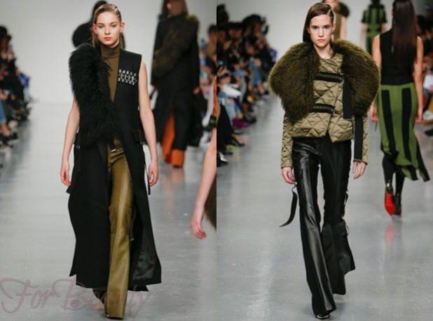 Брюки красивые кожаные женские 2018 года модные тенденции