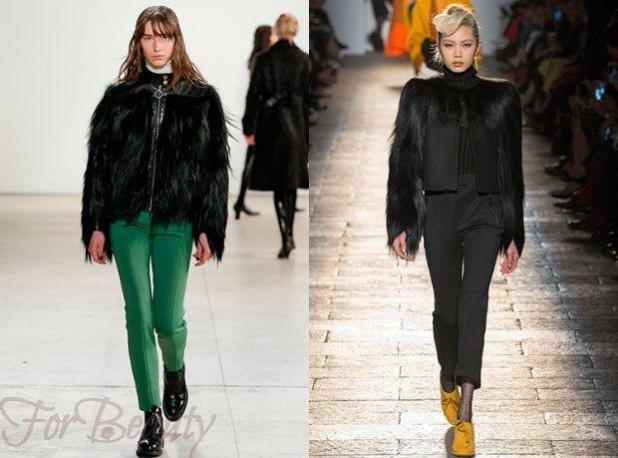 брюки женские 2018-2019 года: узкие зеленые черные