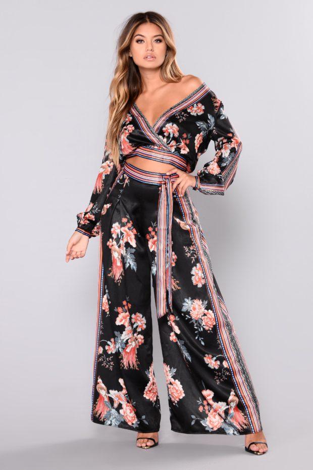модные с принтом цветы
