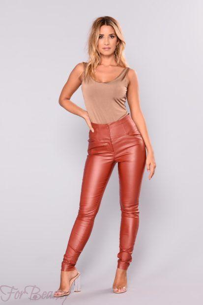брюки женские 2019: яркие с завышенной талией