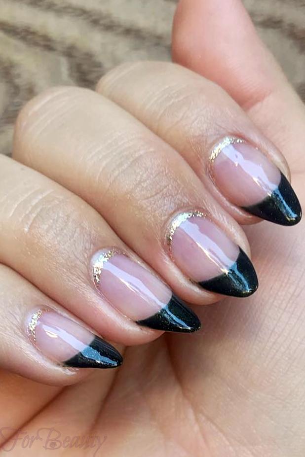 Цветной френч на ногтях 2018 года