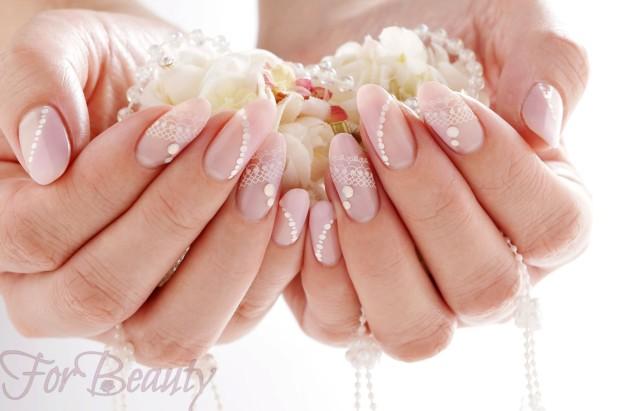 свадебный френч на ногтях 2018 года