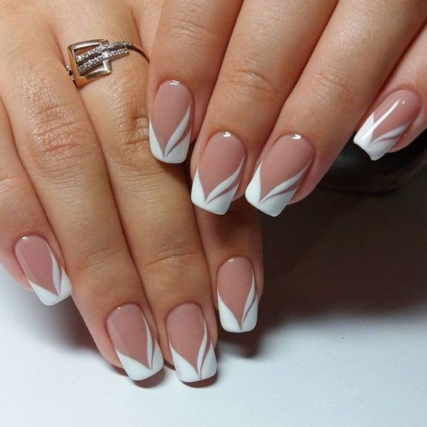 Свадебный френч на ногтях фото мода 2018-2019 новинки