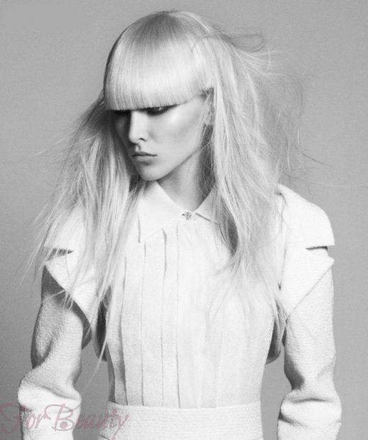 стрижки на средние волосы 2018 2019: аврора с челкой