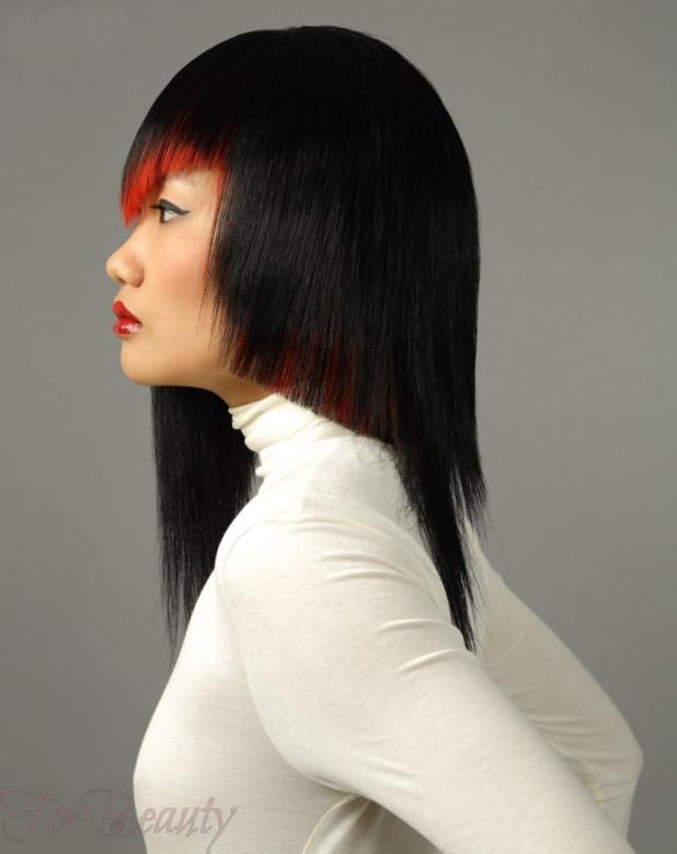 Стрижка асимметричная модная в 2018 году фото на средние волосы