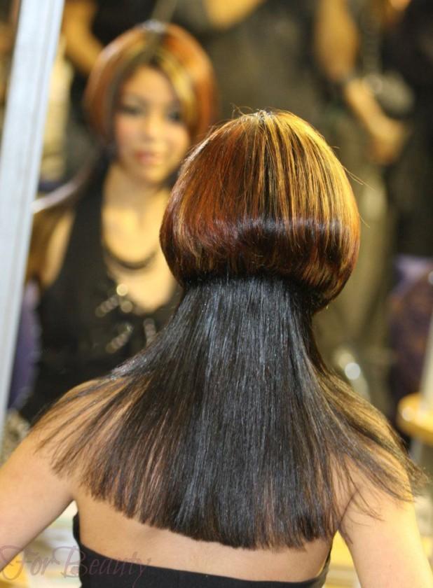 Стрижка асимметричная стильная в 2018 году фото на средние волосы