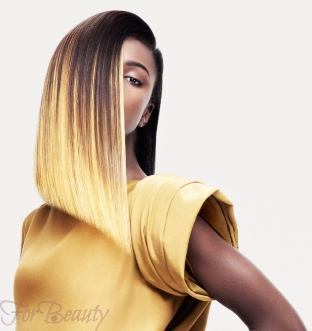 Стрижка асимметричная модная в 2018 году фото на средние волосы без челки