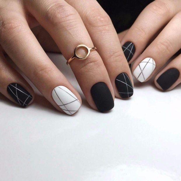 матовый геометрия черно-белый