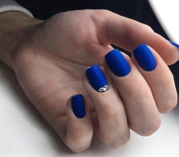матовый синий