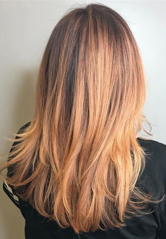 Модное окрашивание волос шатуш 2018 фото на средние волосы