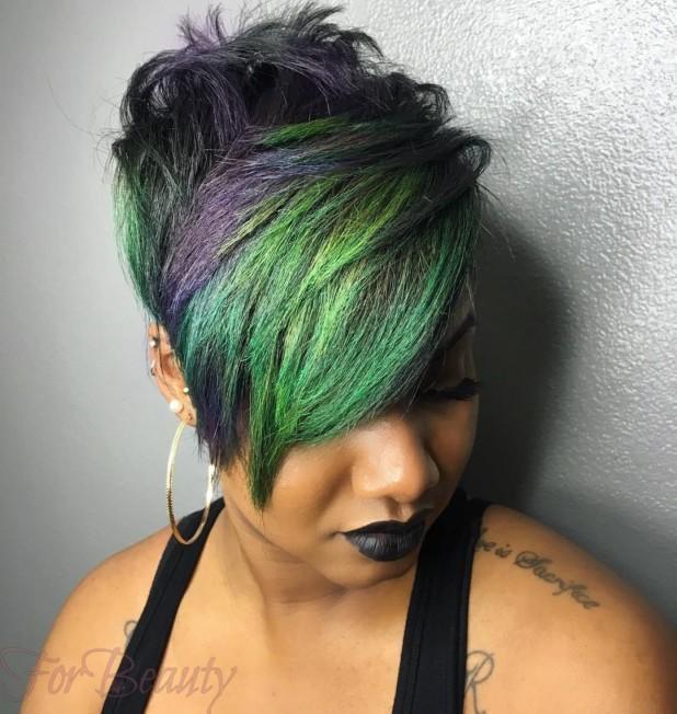 Модное цветное окрашивание волосколорирование2018 фото