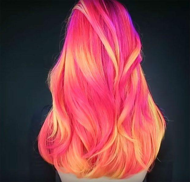 окрашивание волос: розовоеколорирование