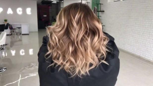 окрашивание волос: балаяж