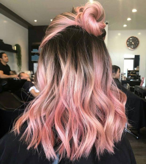 окрашивание волос 2018-2019 года:балаяж