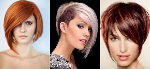 Стрижкасессонна короткие волосы фото для женщин за 40 с челкой