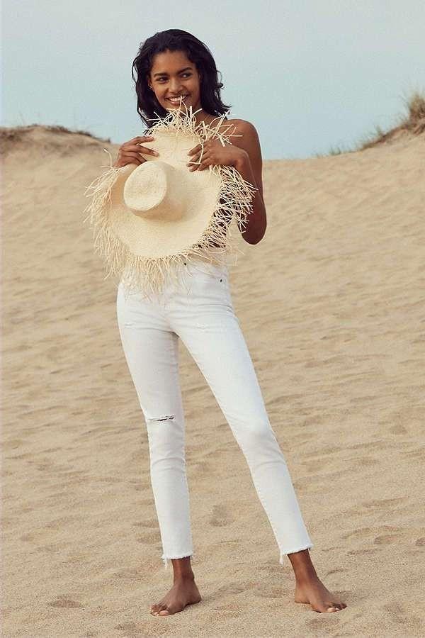 Модные цвета джинсы женские фото
