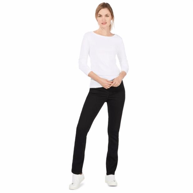 Классические черные женские джинсы