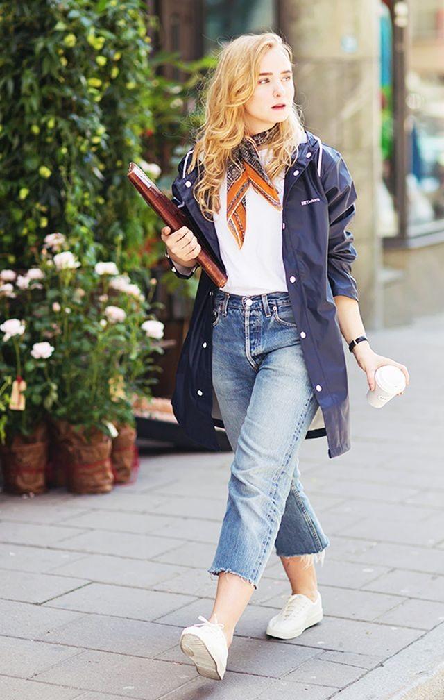 фото женских джинс: с широким кроем