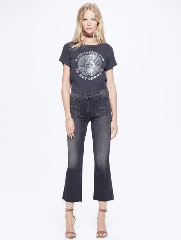 женские джинсы: клеш серые