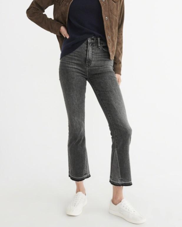 женские джинсы: клеш со вставками