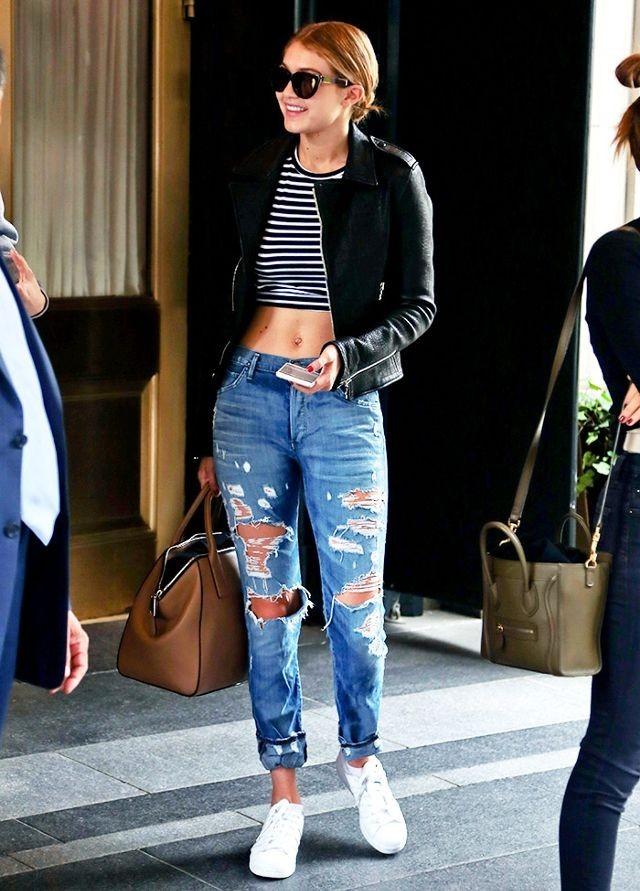 модный цвет рваных джинс