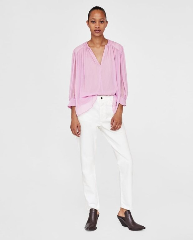 Модные женские джинсы: белые