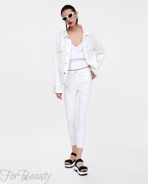 Модные белые джинсы 2018 женские