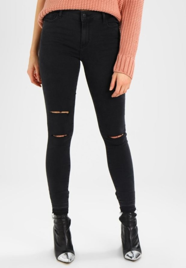Модные рваные джинсы скинни