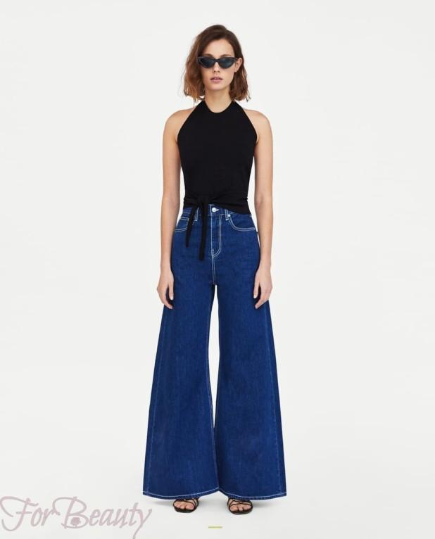 Модные джинсы клеш 2018 женские