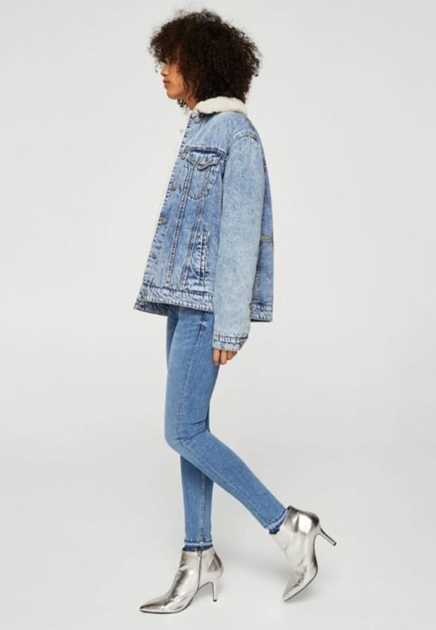 Модные синие джинсы скинни