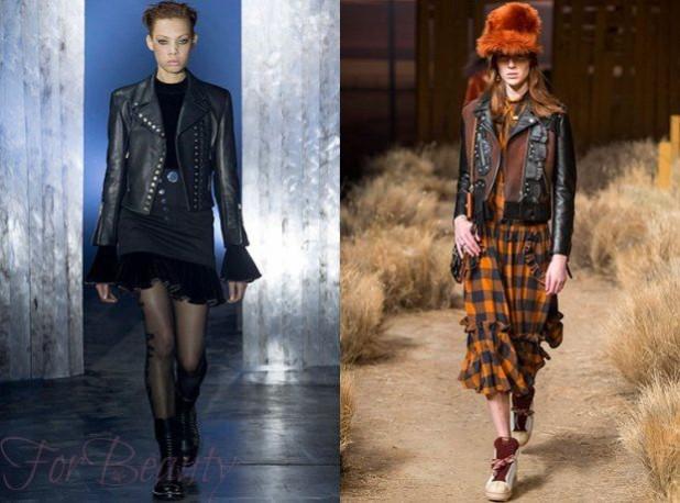 Модные женские кожаные куртки осень 2018 2019