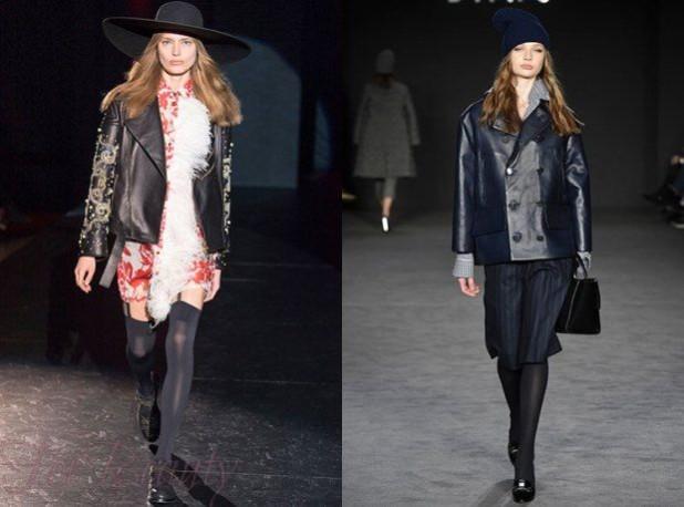 Модные женские кожаные куртки осень зима 2018 2019 с вышивкой