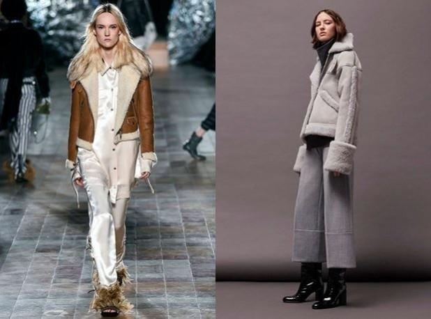 Модные женские куртки дубленки с мехом 2018 2019