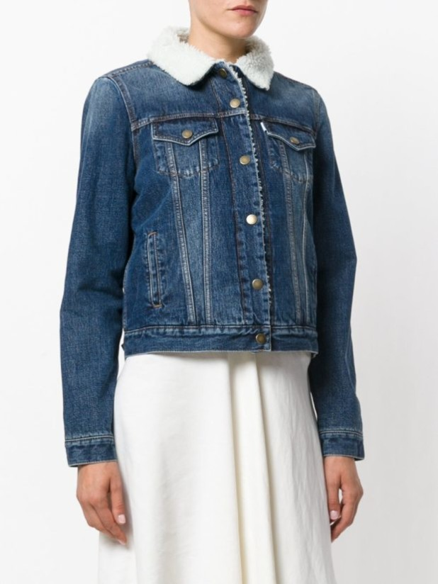 куртки осень 2018 2019 женские: джинсовая с воротником