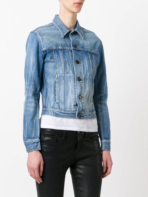 синяя джинсовая