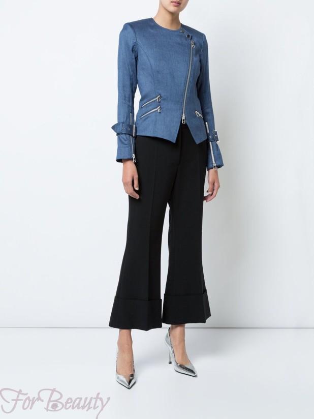 Модные женские джинсовые куртки осень-зима 2018 2019 на молнии