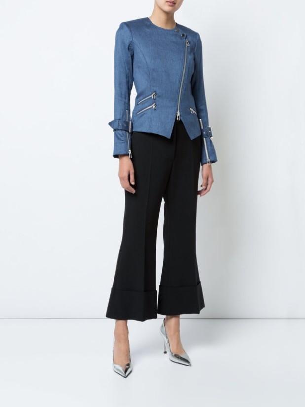 куртки осень 2018 2019 женские: джинсовая на молнии