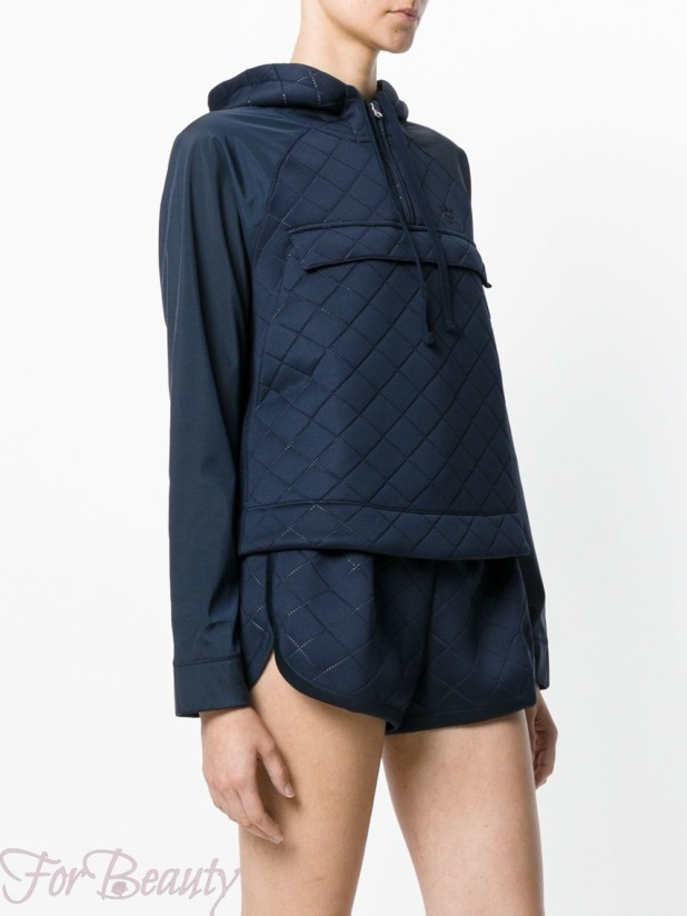 Модные синие женские стеганые куртки с капюшоном осень-зима 2018 2019