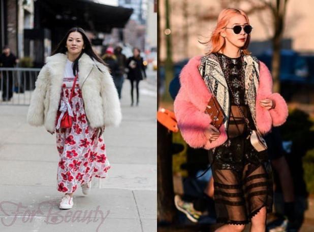женские куртки с мехом 2018 2019 фото