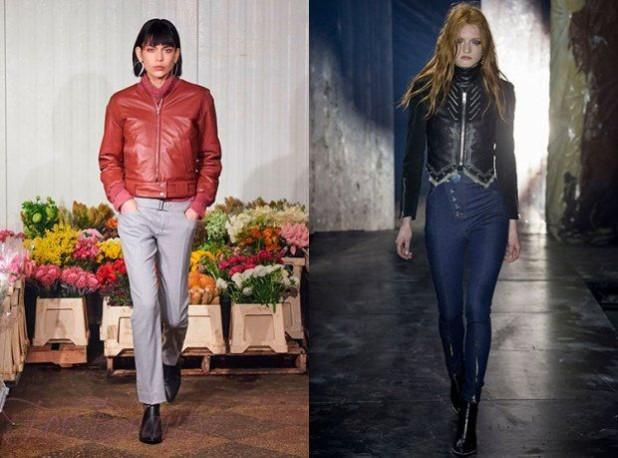 Модные женские кожаные куртки осень зима 2018 2019 фото