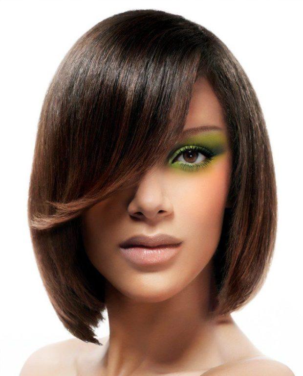 яркие прически каре 2018 женские на средние волосы фото