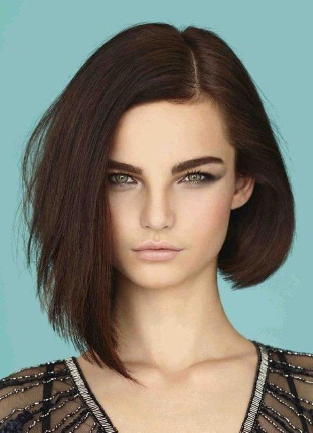 Модные асимметричные прически 2018 женские на средние волосы