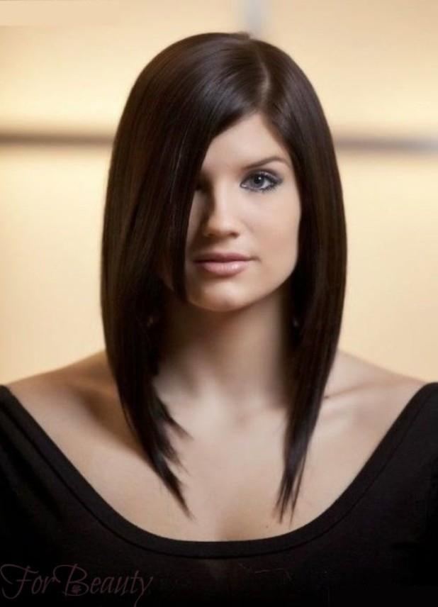 Модные прически лесенка 2018 женские на средние волосы фото