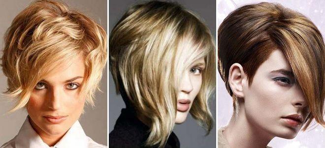 Модные асимметричные стрижки на короткие волосы фото для женщин за 30