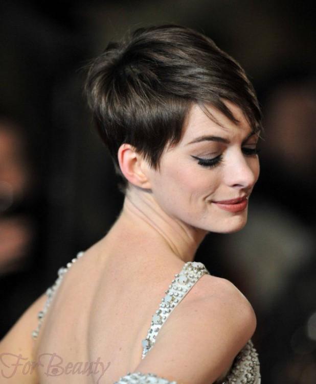 Модные стрижки 2018 2019 на короткие волосы для женщин за 30: темная пикси фото