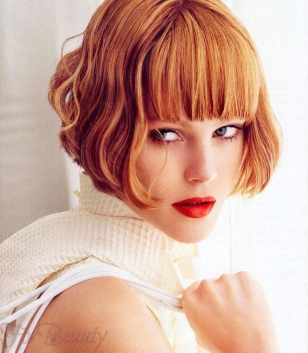 Модные стрижки на короткие фото для женщин за 30: каре рыжие волосы