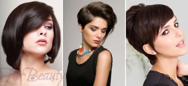 Модные стрижки 2018 2019 на короткие фото для женщин за 30: темные волосы