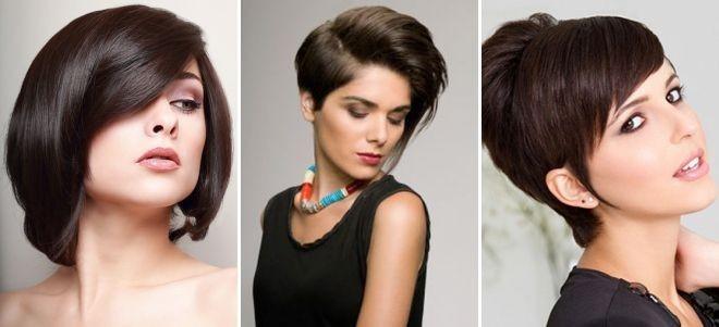 Модные стрижки на короткие для женщин за 30: темные волосы