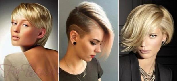 Модные стрижки 2018 2019 на короткие фото для женщин за 30: светлые волосы