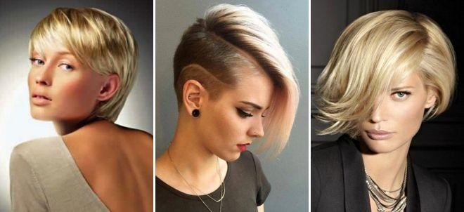 Модные стрижки на короткие для женщин за 30: светлые волосы